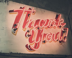 My thanks to you